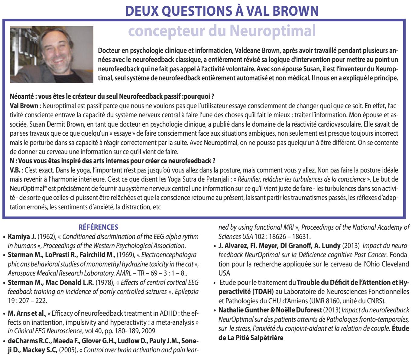 2 questions à Val Brown